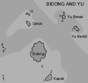 Map of Bidong, Yu