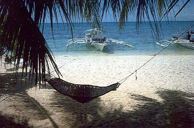 Malapascua beach with boat