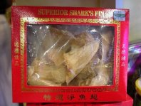 shark fin soup on a grocery shelf in Kota Kinabalu