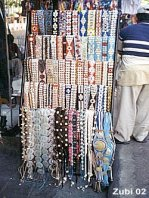 Store with belts made from shells